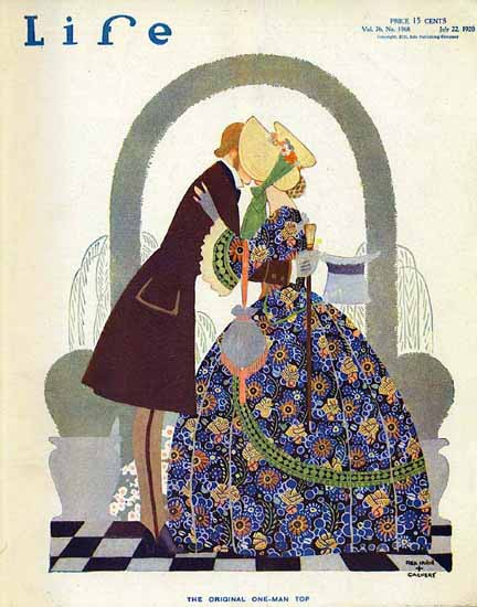 Rea Irvin Calvert Life Humor Magazine 1920-07-22 Copyright   Life Magazine Graphic Art Covers 1891-1936