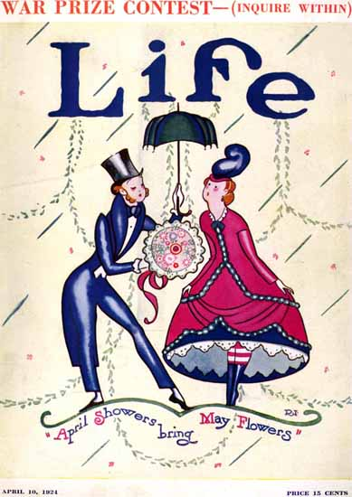 Rea Irvin Life Humor Magazine 1924-04-10 Copyright | Life Magazine Graphic Art Covers 1891-1936