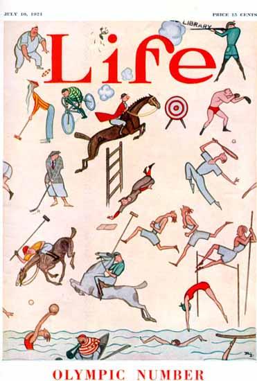 Rea Irvin Life Humor Magazine 1924-07-10 Copyright | Life Magazine Graphic Art Covers 1891-1936