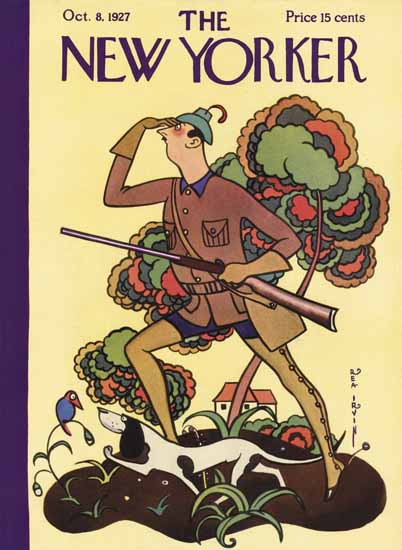 Rea Irvin The New Yorker 1927_10_08 Copyright | The New Yorker Graphic Art Covers 1925-1945