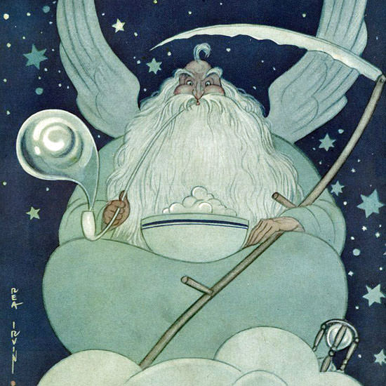 Rea Irvin The New Yorker 1927_12_31 Copyright crop | Best of Vintage Cover Art 1900-1970