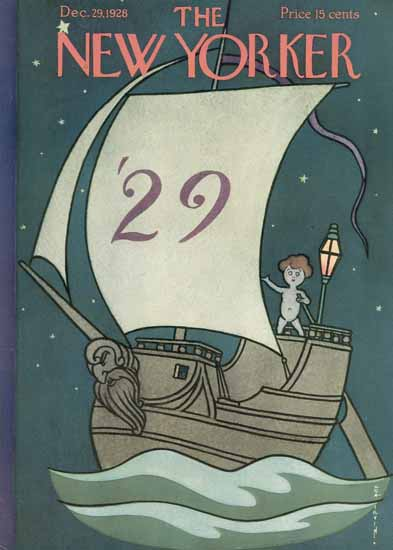 Rea Irvin The New Yorker 1928_12_29 Copyright | The New Yorker Graphic Art Covers 1925-1945