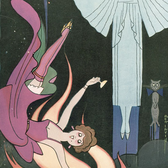 Rea Irvin The New Yorker 1930_03_29 Copyright crop | Best of Vintage Cover Art 1900-1970