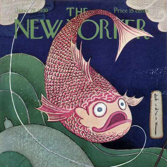 Rea Irvin The New Yorker 1930_06_28 Copyright crop | Best of Vintage Cover Art 1900-1970