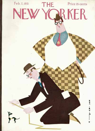 Rea Irvin The New Yorker 1931_02_07 Copyright | The New Yorker Graphic Art Covers 1925-1945