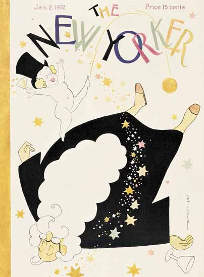 Rea Irvin The New Yorker 1932_01_02 Copyright | The New Yorker Graphic Art Covers 1925-1945