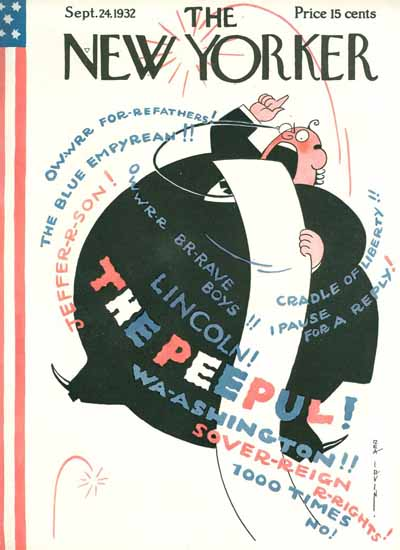 Rea Irvin The New Yorker 1932_09_24 Copyright | The New Yorker Graphic Art Covers 1925-1945