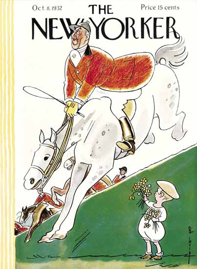 Rea Irvin The New Yorker 1932_10_08 Copyright | The New Yorker Graphic Art Covers 1925-1945
