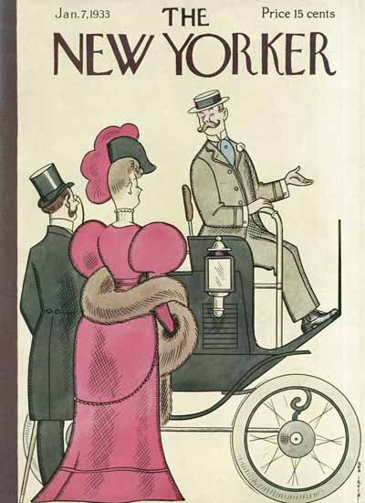 Rea Irvin The New Yorker 1933_01_07 Copyright | The New Yorker Graphic Art Covers 1925-1945