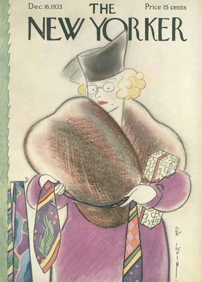 Rea Irvin The New Yorker 1933_12_16 Copyright | The New Yorker Graphic Art Covers 1925-1945