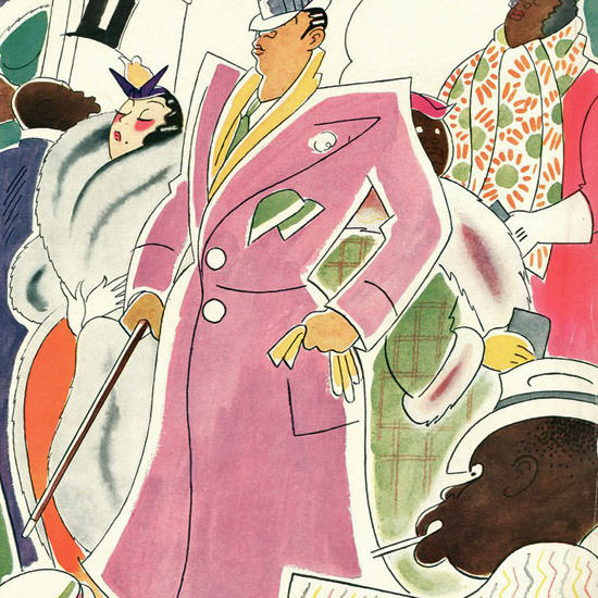 Rea Irvin The New Yorker 1934_03_31 Copyright crop | Best of Vintage Cover Art 1900-1970