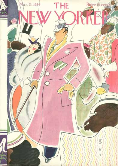 Rea Irvin The New Yorker 1934_03_31 Copyright | The New Yorker Graphic Art Covers 1925-1945
