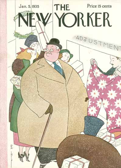 Rea Irvin The New Yorker 1935_01_05 Copyright | The New Yorker Graphic Art Covers 1925-1945