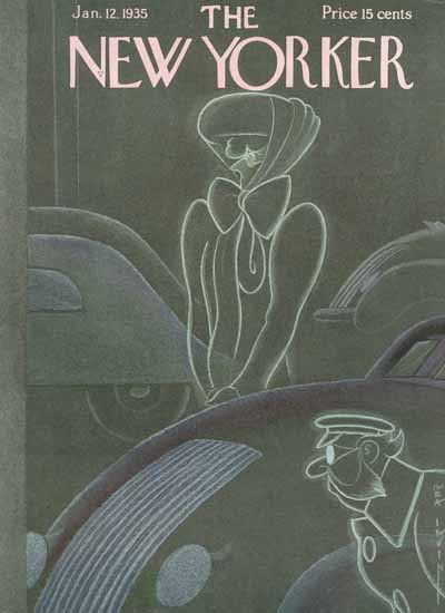 Rea Irvin The New Yorker 1935_01_12 Copyright | The New Yorker Graphic Art Covers 1925-1945