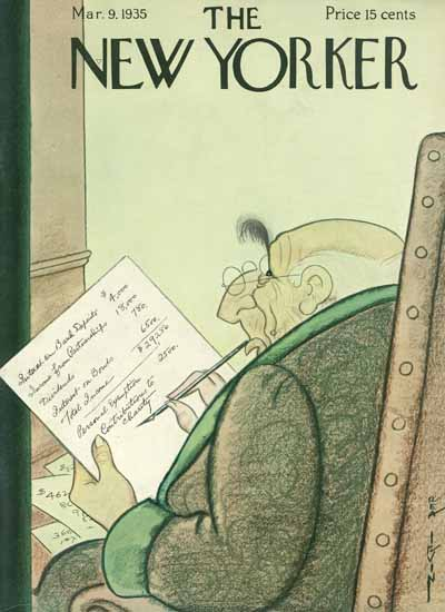 Rea Irvin The New Yorker 1935_03_09 Copyright | The New Yorker Graphic Art Covers 1925-1945