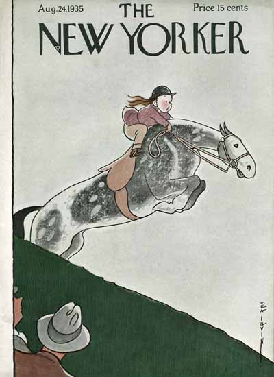 Rea Irvin The New Yorker 1935_08_24 Copyright | The New Yorker Graphic Art Covers 1925-1945