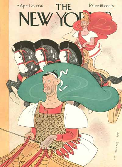 Rea Irvin The New Yorker 1936_04_25 Copyright | The New Yorker Graphic Art Covers 1925-1945