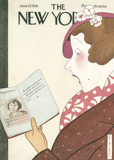 Rea Irvin The New Yorker 1936_06_27 Copyright | The New Yorker Graphic Art Covers 1925-1945