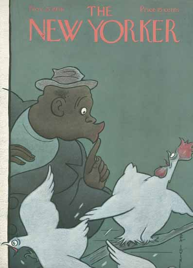 Rea Irvin The New Yorker 1936_11_21 Copyright | The New Yorker Graphic Art Covers 1925-1945