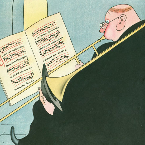 Rea Irvin The New Yorker 1937_03_06 Copyright crop | Best of Vintage Cover Art 1900-1970