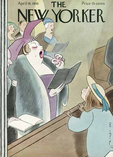 Rea Irvin The New Yorker 1938_04_16 Copyright | The New Yorker Graphic Art Covers 1925-1945
