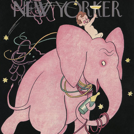 Rea Irvin The New Yorker 1938_12_31 Copyright crop | Best of Vintage Cover Art 1900-1970