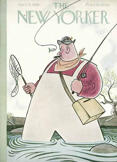 Rea Irvin The New Yorker 1940_04_06 Copyright   The New Yorker Graphic Art Covers 1925-1945