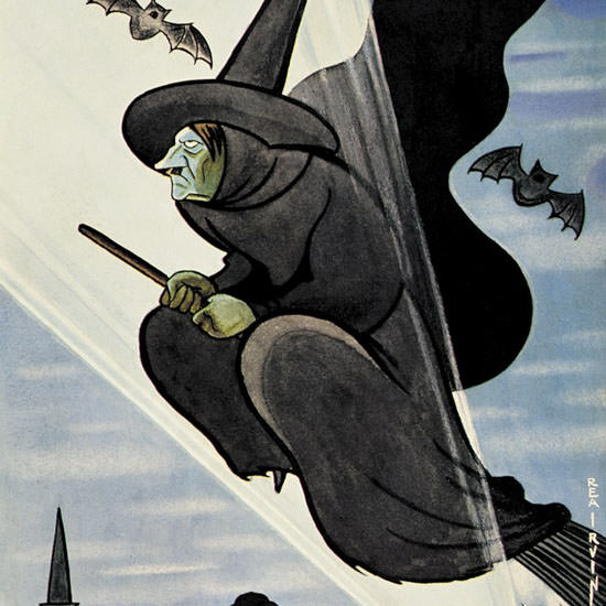 Rea Irvin The New Yorker 1942_10_31 Copyright crop | Best of Vintage Cover Art 1900-1970