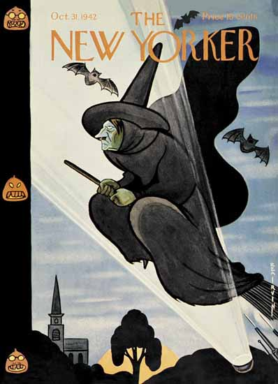 Rea Irvin The New Yorker 1942_10_31 Copyright | The New Yorker Graphic Art Covers 1925-1945