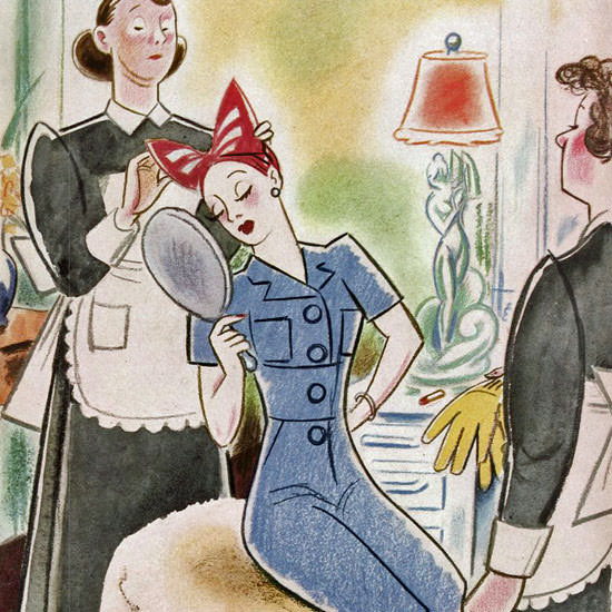 Rea Irvin The New Yorker 1943_09_04 Copyright crop | Best of Vintage Cover Art 1900-1970