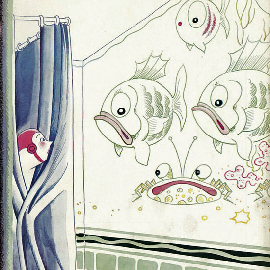 Rea Irvin The New Yorker 1943_12_04 Copyright crop | Best of Vintage Cover Art 1900-1970
