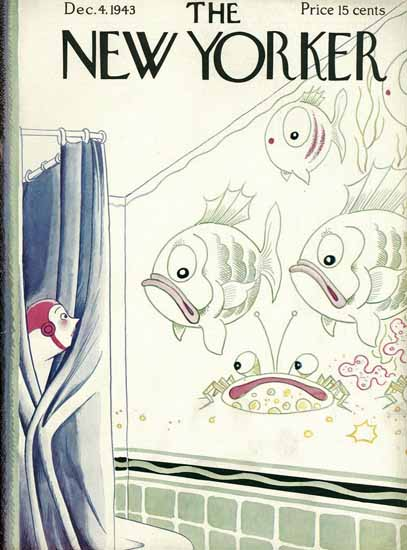 Rea Irvin The New Yorker 1943_12_04 Copyright | The New Yorker Graphic Art Covers 1925-1945