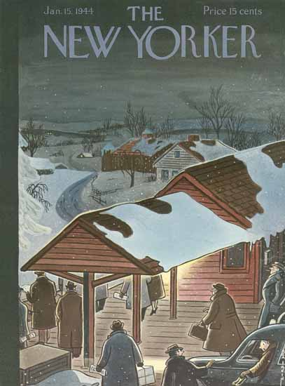 Rea Irvin The New Yorker 1944_01_15 Copyright   The New Yorker Graphic Art Covers 1925-1945