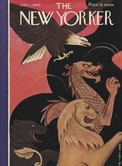 Rea Irvin The New Yorker 1944_07_01 Copyright   The New Yorker Graphic Art Covers 1925-1945