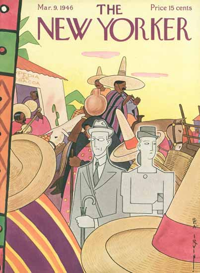 Rea Irvin The New Yorker 1946_03_09 Copyright | The New Yorker Graphic Art Covers 1946-1970