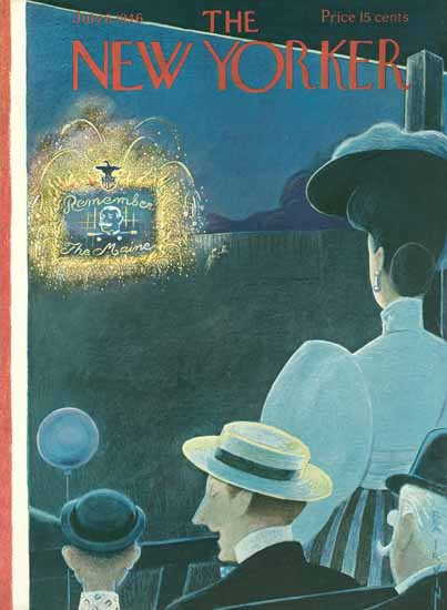 Rea Irvin The New Yorker 1946_07_06 Copyright | The New Yorker Graphic Art Covers 1946-1970