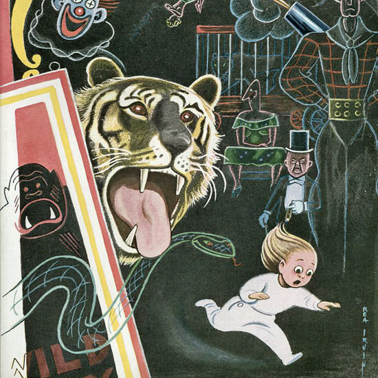 Rea Irvin The New Yorker 1948_04_10 Copyright crop | Best of Vintage Cover Art 1900-1970