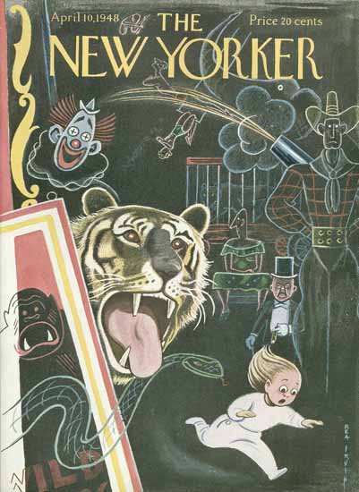 Rea Irvin The New Yorker 1948_04_10 Copyright | The New Yorker Graphic Art Covers 1946-1970