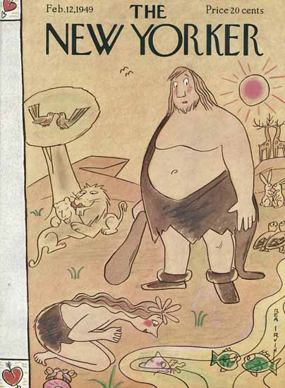 Rea Irvin The New Yorker 1949_02_12 Copyright | The New Yorker Graphic Art Covers 1946-1970