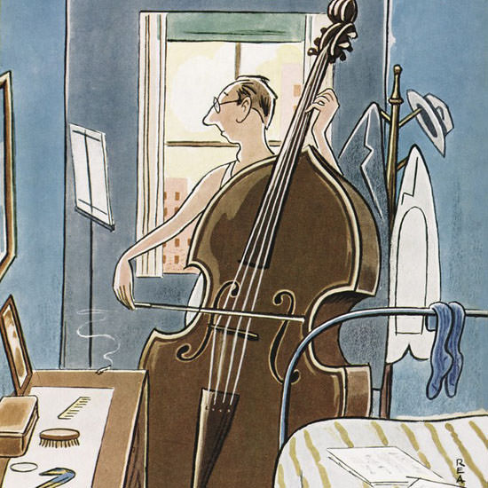 Rea Irvin The New Yorker 1949_09_17 Copyright crop | Best of Vintage Cover Art 1900-1970