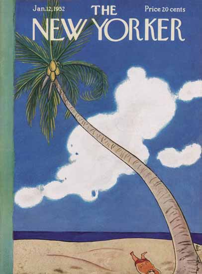 Rea Irvin The New Yorker 1952_01_12 Copyright | The New Yorker Graphic Art Covers 1946-1970