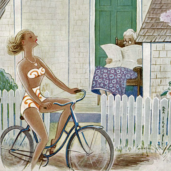 Rea Irvin The New Yorker 1955_08_06 Copyright crop | Best of Vintage Cover Art 1900-1970