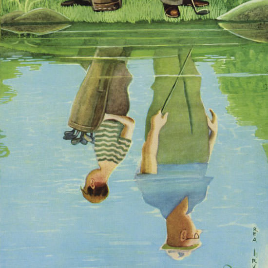 Rea Irvin The New Yorker 1958_07_12 Copyright crop | Best of Vintage Cover Art 1900-1970