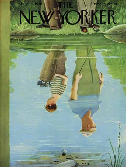 Rea Irvin The New Yorker 1958_07_12 Copyright | The New Yorker Graphic Art Covers 1946-1970