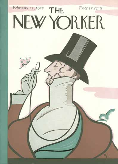 Rea Irvin The New Yorker First Issue 1925_02_21 Copyright | The New Yorker Graphic Art Covers 1925-1945