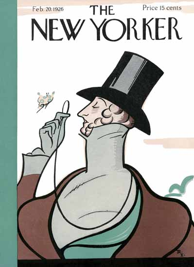 Rea Irvin The New Yorker Magazine Cover 1926_02_20 Copyright | The New Yorker Graphic Art Covers 1925-1945