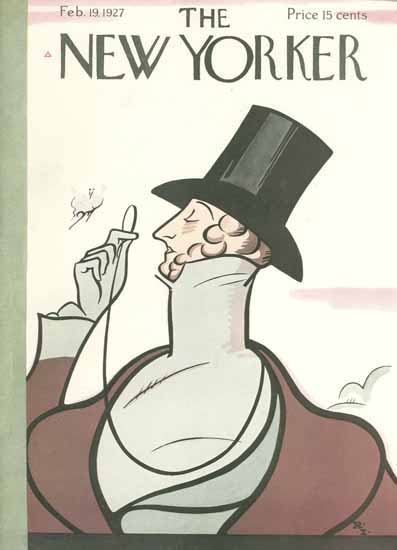 Rea Irvin The New Yorker Magazine Cover 1927_02_19 Copyright | The New Yorker Graphic Art Covers 1925-1945