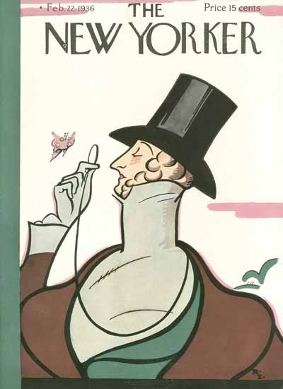 Rea Irvin The New Yorker Magazine Cover 1936_02_22 Copyright | The New Yorker Graphic Art Covers 1925-1945