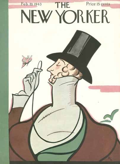 Rea Irvin The New Yorker Magazine Cover 1943_02_20 Copyright   The New Yorker Graphic Art Covers 1925-1945