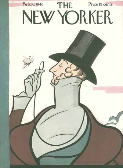 Rea Irvin The New Yorker Magazine Cover 1946_02_16 Copyright | The New Yorker Graphic Art Covers 1946-1970